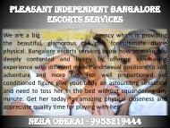 Pleasant Independent Bangalore Escorts Services