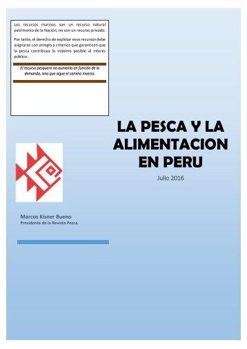 LA PESCA Y LA ALIMENTACION EN EL PERU
