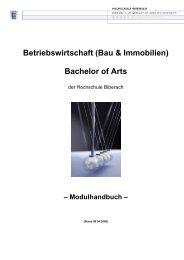 Betriebswirtschaft (Bau & Immobilien) Bachelor of Arts