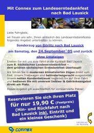 Mit Connex zum Landeserntedankfest nach Bad ... - Veolia Transport