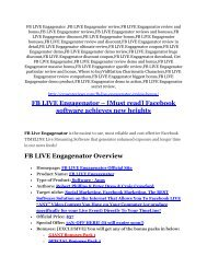 FB LIVE Engagenator Review and Premium $14,700 Bonus