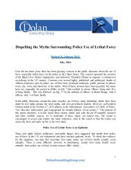 Dispelling the Myths Surrounding Police Use of Lethal Force