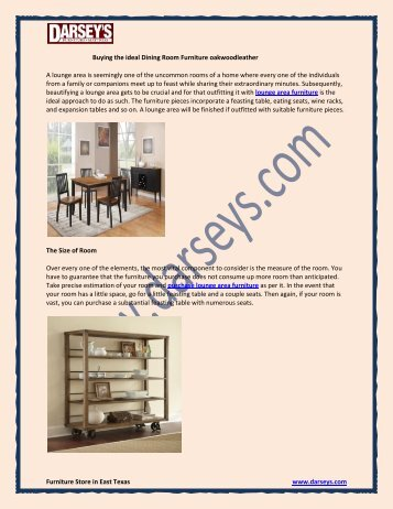 Buying the ideal Dining Room Furniture oakwoodleather