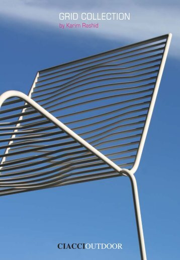 TAVOLI E SEDIE OUTDOOR -Grid collection by Ciacci