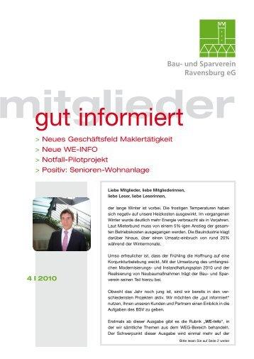 April - Bau- und Sparverein Ravensburg