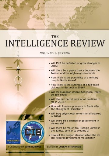The Intelligence Review | vol. 1 | iss. 1 | Preview