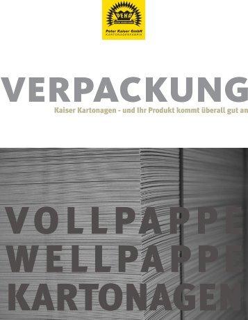 Laden Sie hier unserer Broschüre als PDF-Datei - Peter Kaiser GmbH