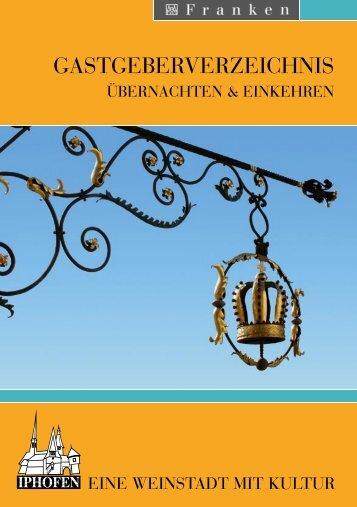 GASTGEBERVERZEICHNIS - Iphofen