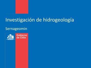 Investigación de hidrogeología