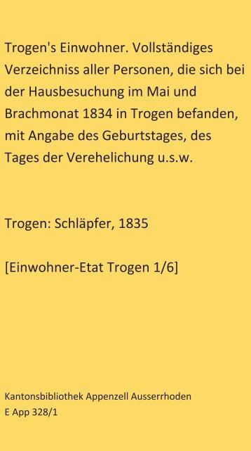 Einwohner-Etat 1835 [1/6]