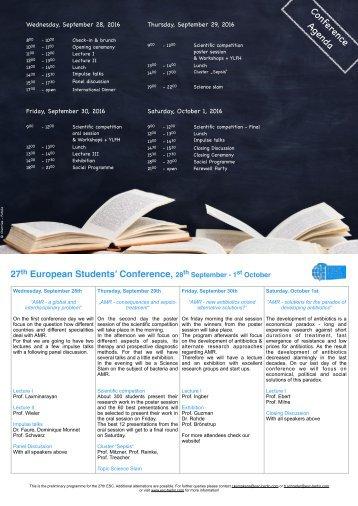 Aktuelles Programm in einer Seite