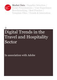 Digital Trends in the Travel and Hospitality Sector