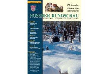 175. Ausgabe Februar 2004 - Nossner Rundschau