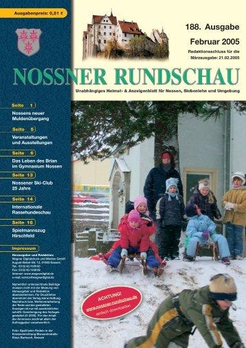 188. Ausgabe Februar 2005 - Nossner Rundschau