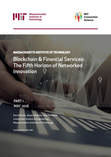 Blockchain & Financial Services The Fifth Horizon of Networked Innovation