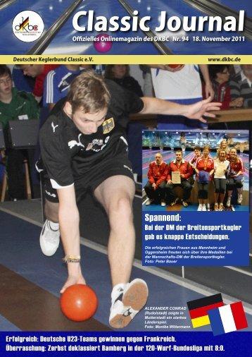 Classic Journal Online 94.2011 - Deutscher Kegler