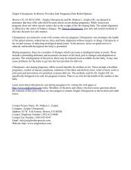 Zeigler Chiropractic In Denver, Provides Safe Pregnancy Pain Relief Options