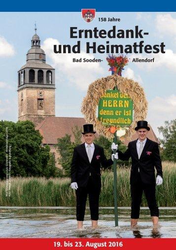 Programm Erntefest 2016 Bad Sooden-Allendorf