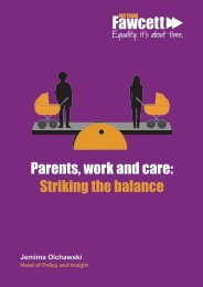 Parents work and care Striking the balance