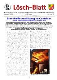 Lösch-Blatt - Ausgabe 2/2005 - Kreisfeuerwehrverband Rendsburg ...