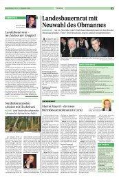 Landesbauernrat mit Neuwahl des Obmannes - Tiroler Bauernbund