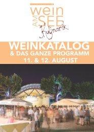 Wein am See Kulinarik 2016