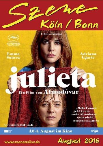 Szene Köln-Bonn, Ausgabe 08.2016
