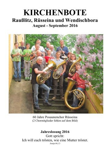 Kirchenbote August - September 2016