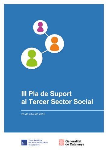 III Pla de Suport al Tercer Sector Social