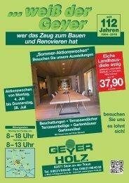 Blätterkatalog Geyer Holz