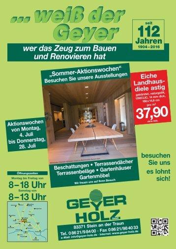 Geyer Holz fachmarkt magazine