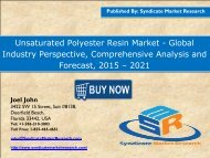 Unsaturated Polyester Resin Market