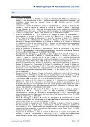 Publication list of the physics department.