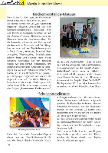 Gemeindebriefseiten MNK August September 2016