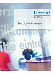 Limmatklinik - Patientenbroschüre