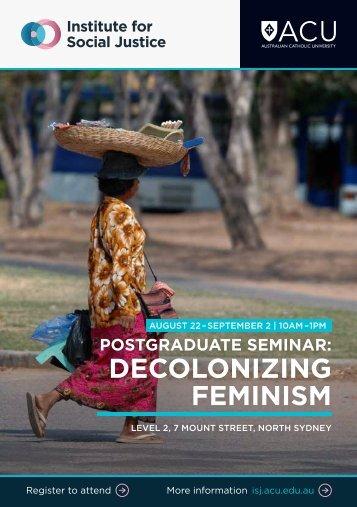 DECOLONIZING FEMINISM