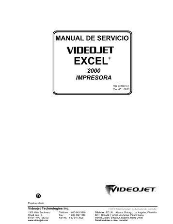 Manual de Servicio VideoJet Excel