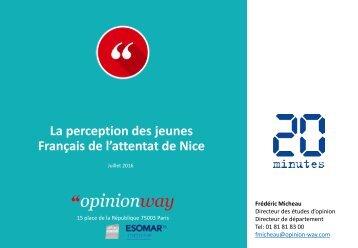 La perception des jeunes Français de l'attentat de Nice