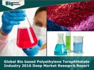 Global Bio based Polyethylene Teraphthalate Industry 2016 - Analysis, Size, Share, Growth, Trends
