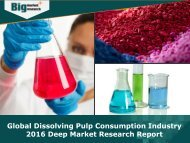 Global Dissolving Pulp Consumption Industry 2016 - Analysis, Size, Share, Growth, Trends