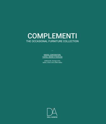 DallAgnese CATALOG COMPLEMENTI 20151
