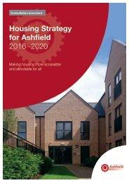 Housing Strategy for Ashfield 2016 -2020