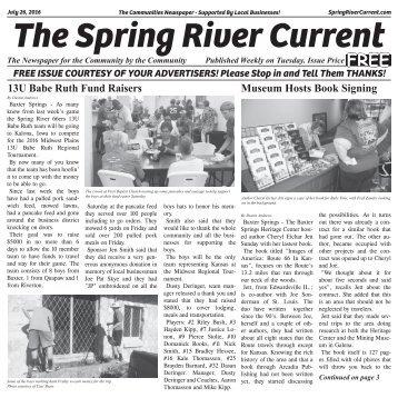 Spring River Current #9 July 26, 2016