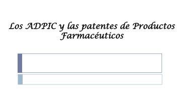 ADPIC y Patentes Farmacéuticas