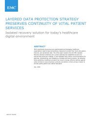 LAYERED DATA PROTECTION STRATEGY PRESERVES CONTINUITY OF VITAL PATIENT SERVICES