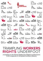 TRAMPLING WORKERS RIGHTS UNDERFOOT
