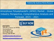 Amorphous Polyalphaolefin (APAO) Market