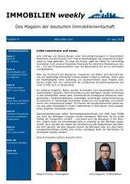 IMMOBILIEN weekly Ausgabe 60 vom 31 März 2010_leer