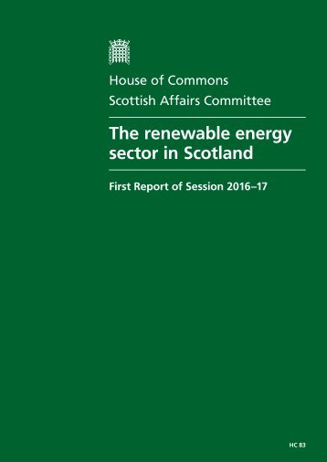 The renewable energy sector in Scotland