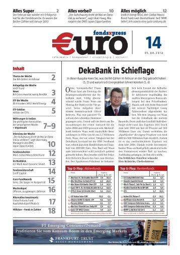 DekaBank in Schieflage - FONDSXPRESS